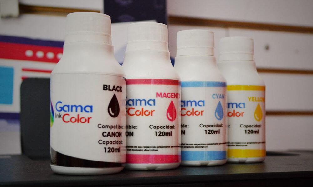 Tintas genericas gama ink color