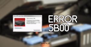 Error 5B00 Canon