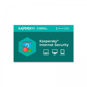 Licencia Kaspersky Internet Security 1 dispositivo