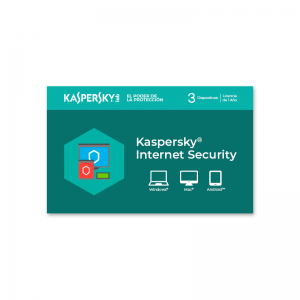Licencia Kaspersky Internet Security para 3 dispositivos