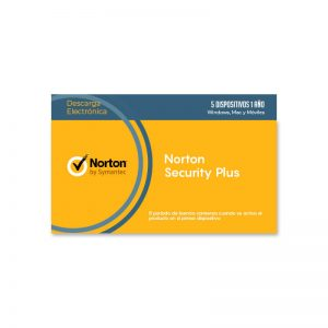 Licencia Norton Security Plus para 5 Dispositivos - Intelite Guatemala