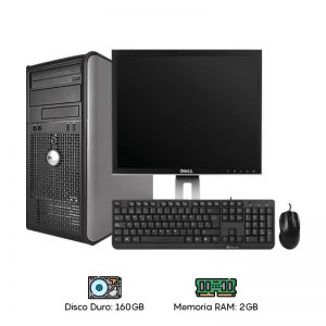 Computadora Dell 755/760 Core 2 Duo - 2GB RAM - 160GB HDD