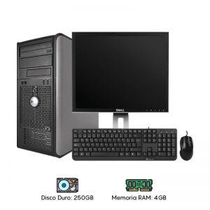 Computadora Dell 755/760 Core 2 Duo - 4GB RAM - 250GB HDD