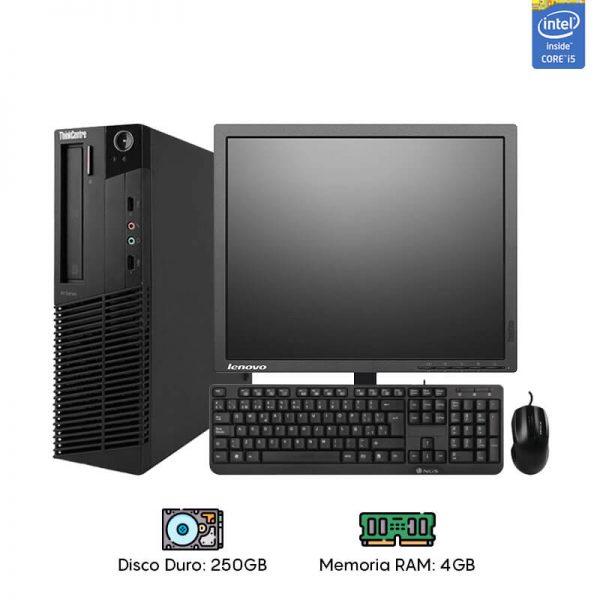 Computadora Lenovo Desk Core i5 - 4GB RAM - 250GB HDD